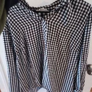 Workshop Republic oversized checkered shirt